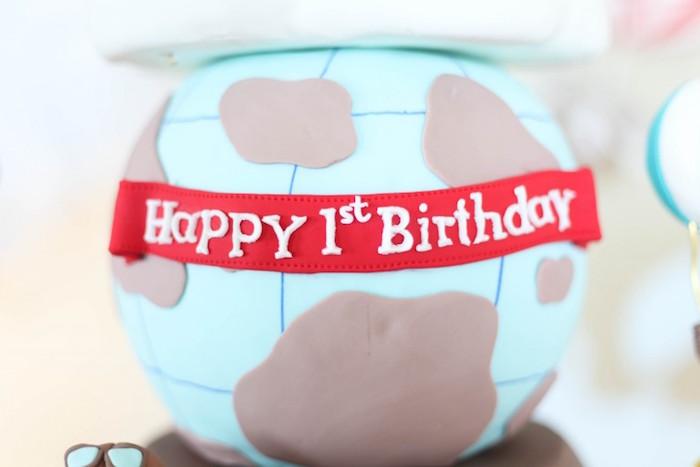 Cake Detail from a Rustic Hot Air Balloon Birthday Party via Kara's Party Ideas KarasPartyIdeas.com (8)