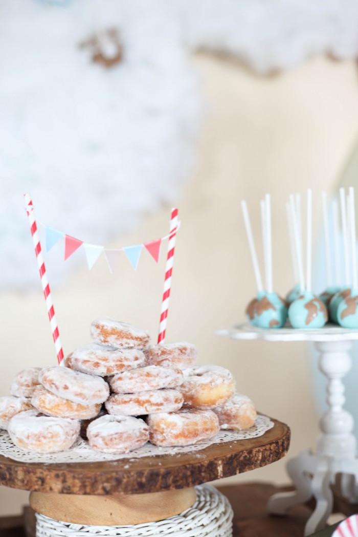 Doughnuts from a Rustic Hot Air Balloon Birthday Party via Kara's Party Ideas KarasPartyIdeas.com (25)