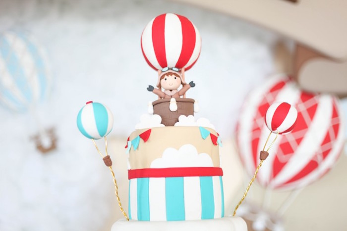 Karas Party Ideas Rustic Hot Air Balloon Birthday Party Karas