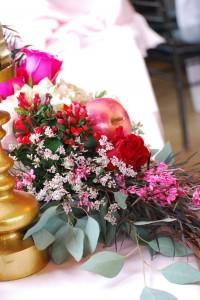 Floral Arrangement from a Snow White Inspired Baptism Celebration via Kara's Party Ideas KarasPartyIdeas.com (7)