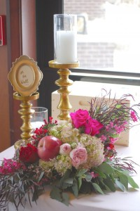 Decor + Floral Arrangement from a Snow White Inspired Baptism Celebration via Kara's Party Ideas KarasPartyIdeas.com (15)