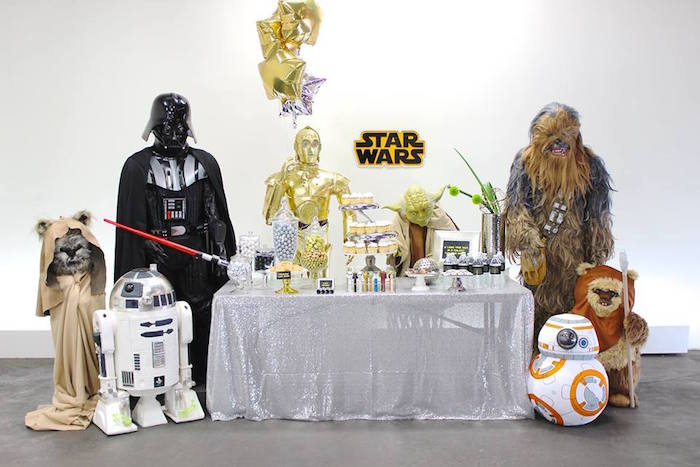 Party Display from a Star Wars Birthday Party via Kara's Party Ideas | KarasPartyIdeas.com (7)