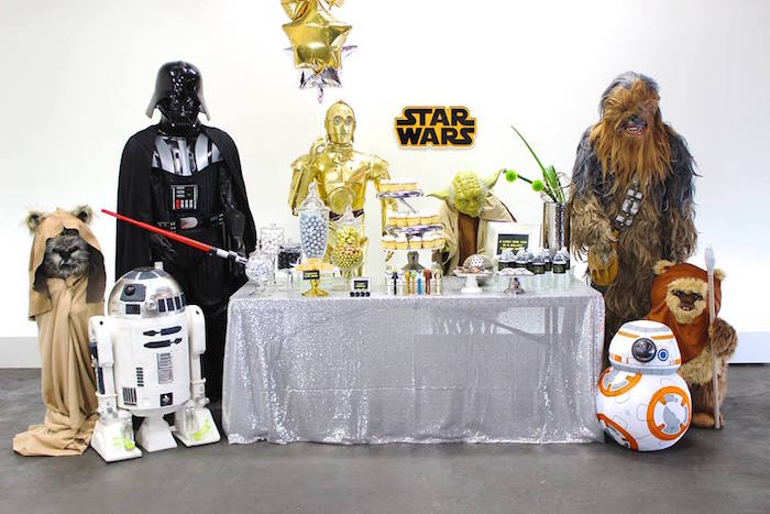 Party Display from a Star Wars Birthday Party via Kara's Party Ideas | KarasPartyIdeas.com (6)