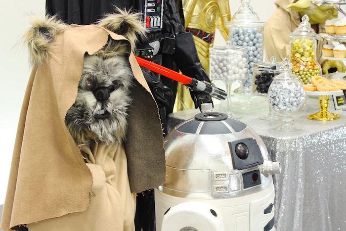 Ewok + R2-D2 from a Star Wars Birthday Party via Kara's Party Ideas | KarasPartyIdeas.com (4)
