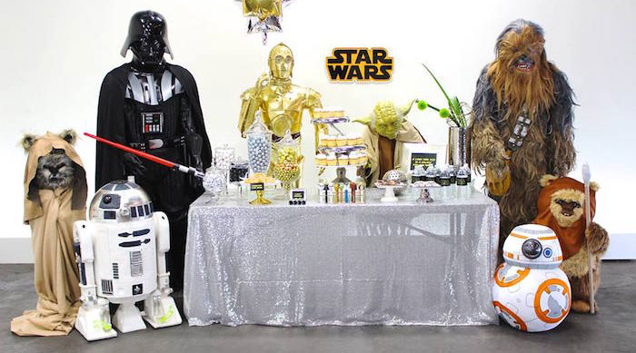 Party Display from a Star Wars Birthday Party via Kara's Party Ideas | KarasPartyIdeas.com (2)