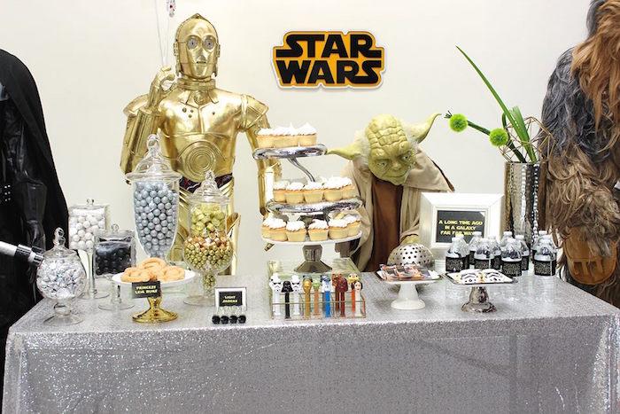 Sweet Table from a Star Wars Birthday Party via Kara's Party Ideas | KarasPartyIdeas.com (16)