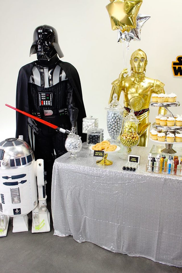 Party Display from a Star Wars Birthday Party via Kara's Party Ideas | KarasPartyIdeas.com (13)