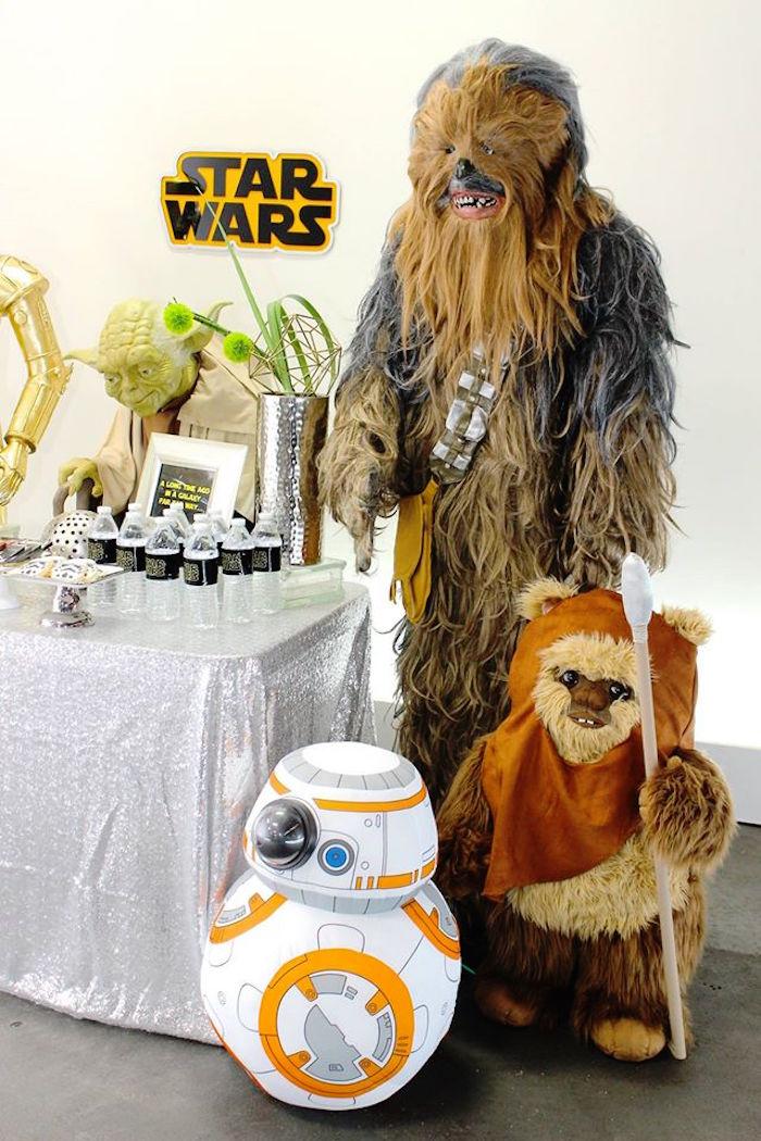 Characters + Setup from a Star Wars Birthday Party via Kara's Party Ideas | KarasPartyIdeas.com (11)