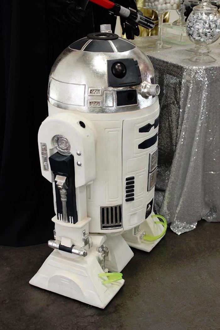 R2-D2 from a Star Wars Birthday Party via Kara's Party Ideas | KarasPartyIdeas.com (10)