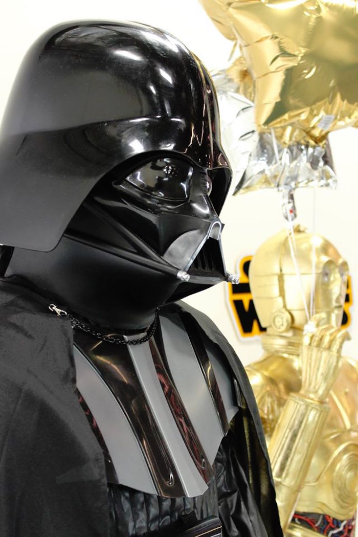 Darth Vader from a Star Wars Birthday Party via Kara's Party Ideas | KarasPartyIdeas.com (9)