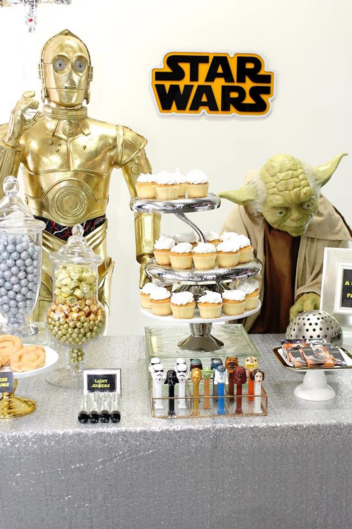 Dessert Table from a Star Wars Birthday Party via Kara's Party Ideas | KarasPartyIdeas.com (8)