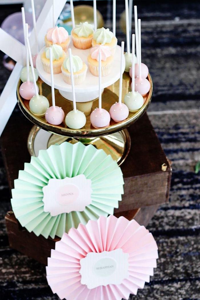 Cake Pops + Mini Cupcakes from a TeddyBear Forever Friends Birthday Party via Kara's Party Ideas KarasPartyIdeas.com (22)