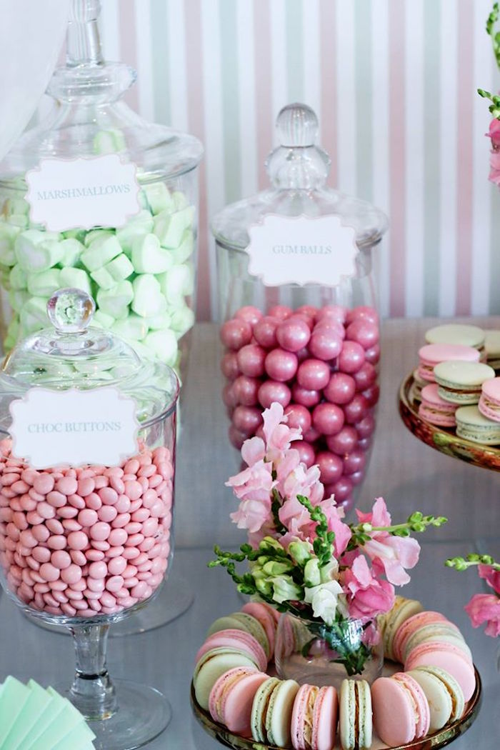 Candy Bar + Macrons from a Teddy Bear Forever Friends Birthday Party via Kara's Party Ideas KarasPartyIdeas.com (21)