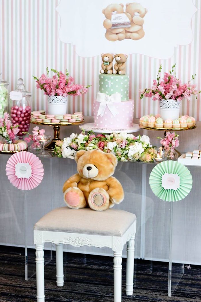 Dessert Table from a Teddy Bear Forever Friends Birthday Party via Kara's Party Ideas KarasPartyIdeas.com (19)