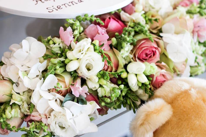 Floral Arrangement from a Teddy Bear Forever Friends Birthday Party via Kara's Party Ideas KarasPartyIdeas.com (17)