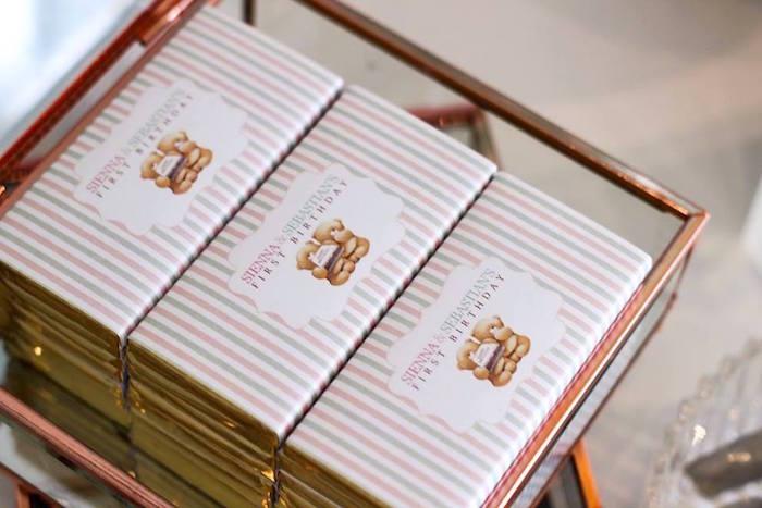 Chocolate Bars from a TeddyBear Forever Friends Birthday Party via Kara's Party Ideas KarasPartyIdeas.com (31)