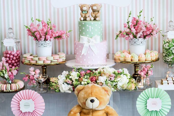 Sweet Table from a Teddy Bear Forever Friends Birthday Party via Kara's Party Ideas KarasPartyIdeas.com (11)
