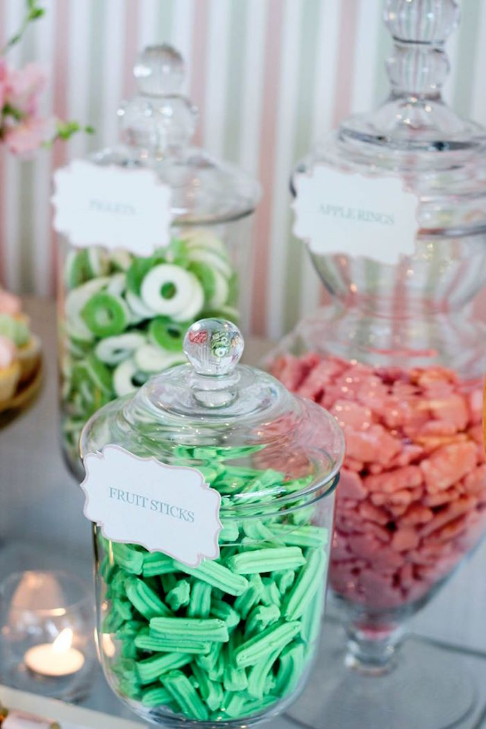 Apothecary Jars filled with candy from a Teddy Bear Forever Friends Birthday Party via Kara's Party Ideas KarasPartyIdeas.com (6)