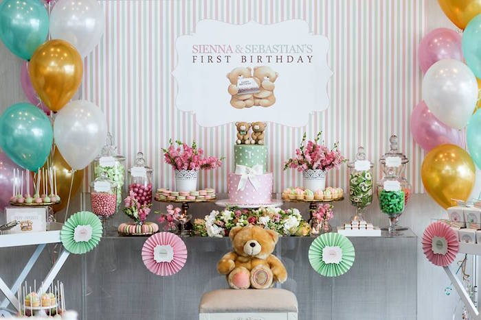 Karas Party Ideas Teddy Bear Forever Friends Birthday Party