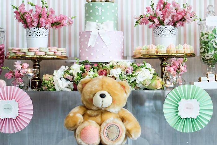 Cake + Sweets + Decor from a TeddyBear Forever Friends Birthday Party via Kara's Party Ideas KarasPartyIdeas.com (27)