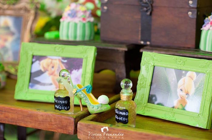Fairy Dust + Decor From A Tinkerbell Fairy Garden Birthday Party Via Karau0027s  Party Ideas KarasPartyIdeas