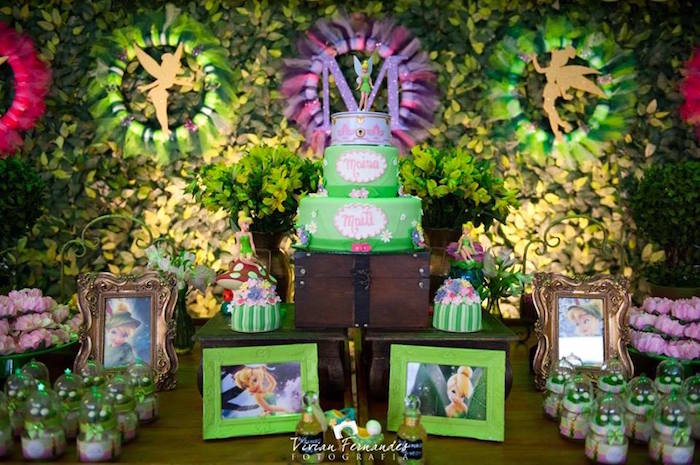 Attractive Cake + Favors + Decor From A Tinkerbell Fairy Garden Birthday Party Via  Karau0027s Party Ideas