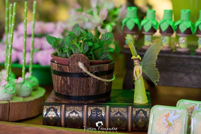 Charming Decor From A Tinkerbell Fairy Garden Birthday Party Via Karau0027s Party Ideas  KarasPartyIdeas.com (