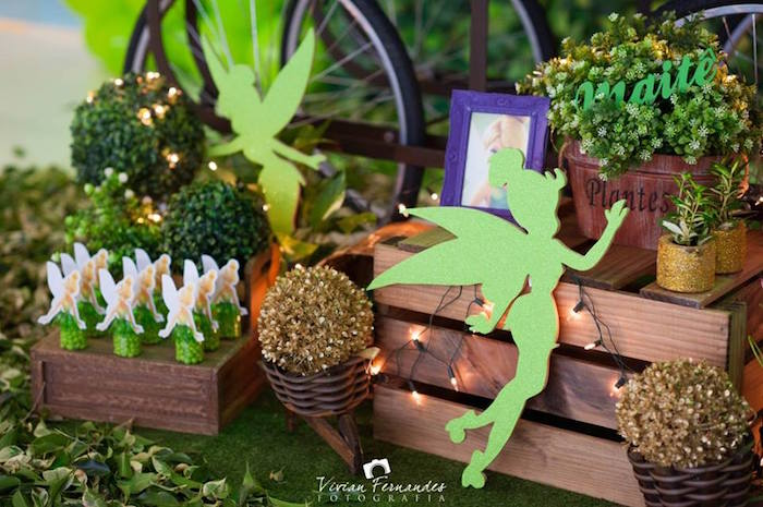 Marvelous Decor + Favors From A Tinkerbell Fairy Garden Birthday Party Via Karau0027s  Party Ideas KarasPartyIdeas.
