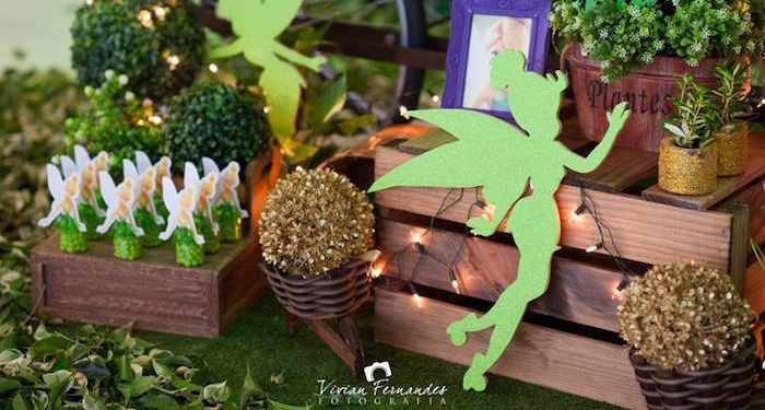 Decor + Favors from a Tinkerbell Fairy Garden Birthday Party via Kara's Party Ideas KarasPartyIdeas.com (1)
