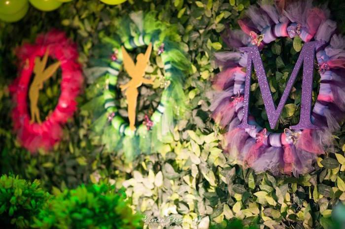 Backdrop from a Tinkerbell Fairy Garden Birthday Party via Kara's Party Ideas KarasPartyIdeas.com (24)