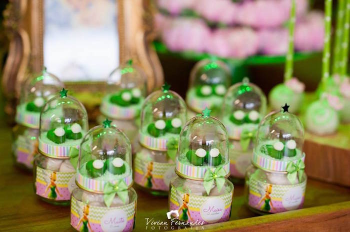 Karas Party Ideas Tinkerbell Slippper Favors From A Tinkerbell Fairy Garden Birthday Party Via
