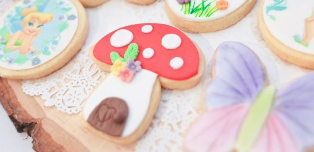 Cookies from a Tinkerbell Pastel Garden Party via Kara's Party Ideas | KarasPartyIdeas.com (2)