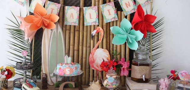 Sweet Table from a Tropical Hawaiian Birthday Party via Kara's Party Ideas | KarasPartyIdeas.com (1)