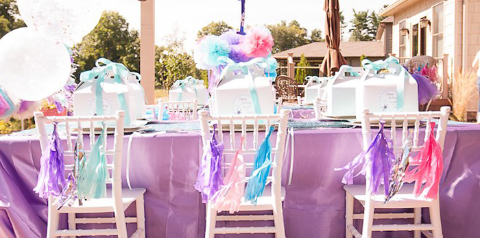 Kara S Party Ideas Turquoise Amp Purple Modern Glam Frozen