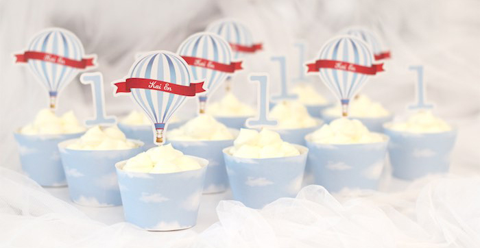 Kara S Party Ideas Red And Blue Hot Air Balloon Vintage Birthday Party
