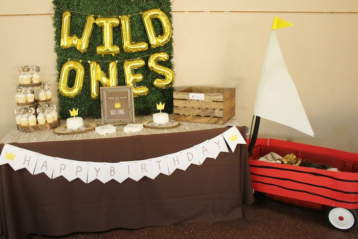 Party Setup from a Where the Wild Things Are Birthday Party via Kara's Party Ideas | KarasPartyIdeas.com (15)