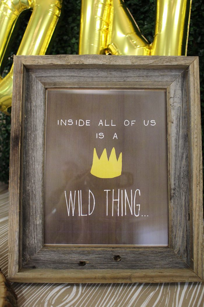 Sign from a Where the Wild Things Are Birthday Party via Kara's Party Ideas | KarasPartyIdeas.com (13)