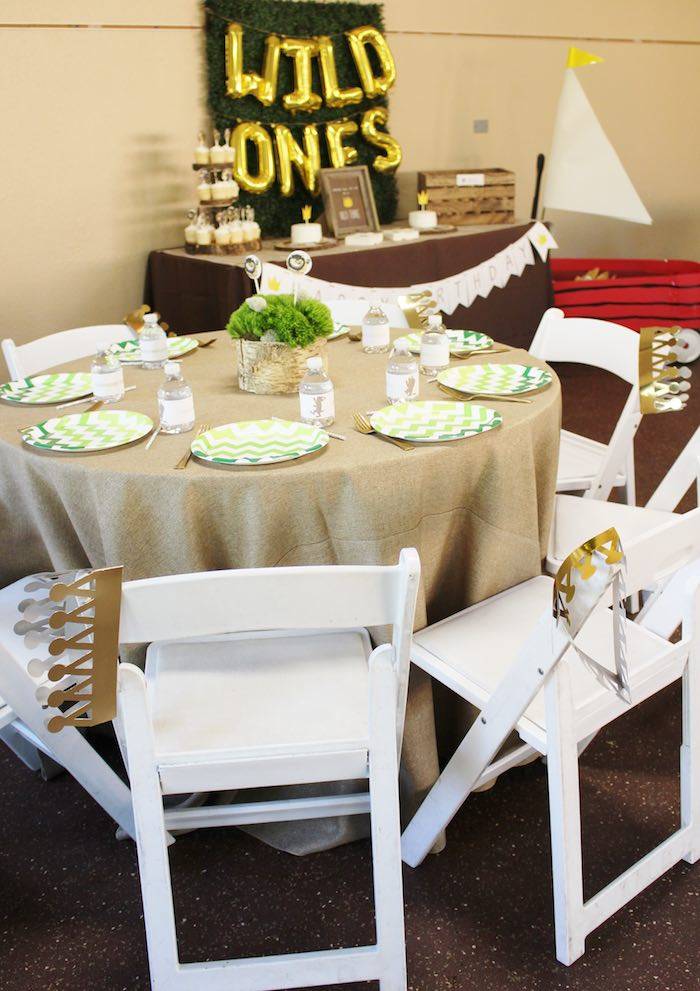 Dining Table from a Where the Wild Things Are Birthday Party via Kara's Party Ideas | KarasPartyIdeas.com (8)