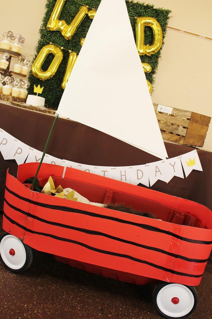 Wagon from a Where the Wild Things Are Birthday Party via Kara's Party Ideas | KarasPartyIdeas.com (5)