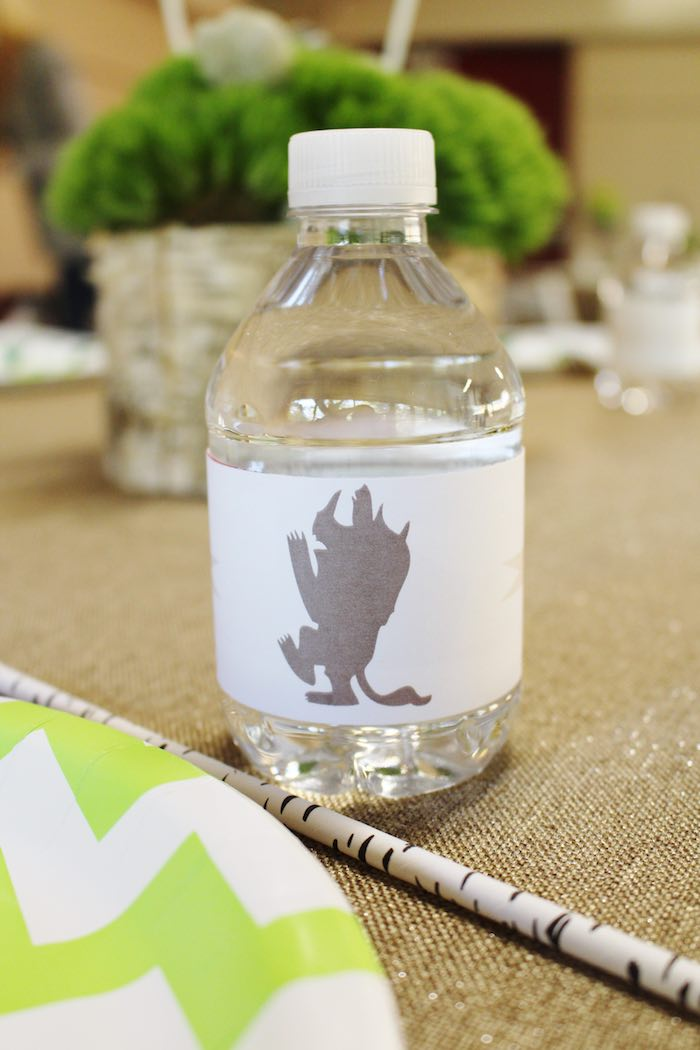 Water Bottle from a Where the Wild Things Are Birthday Party via Kara's Party Ideas | KarasPartyIdeas.com (3)