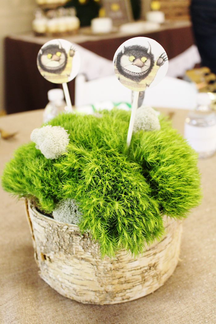 Centerpiece from a Where the Wild Things Are Birthday Party via Kara's Party Ideas | KarasPartyIdeas.com (25)