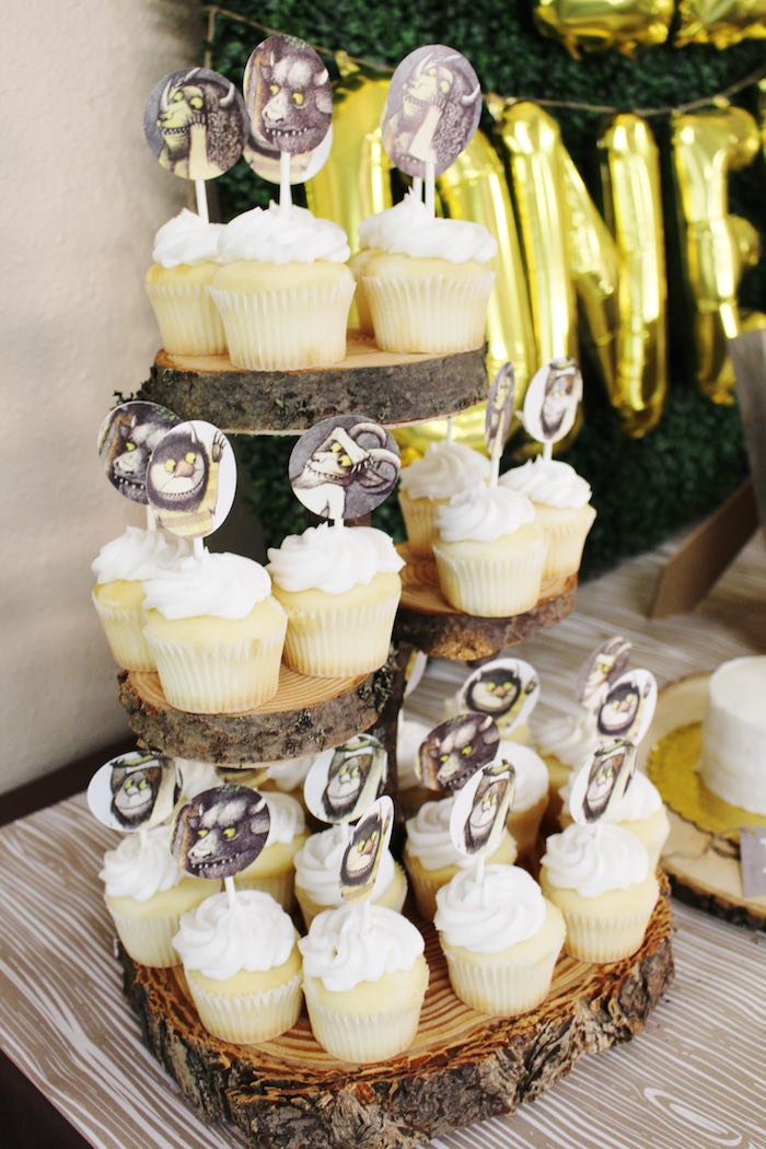 Cupcakes from a Where the Wild Things Are Birthday Party via Kara's Party Ideas | KarasPartyIdeas.com (24)