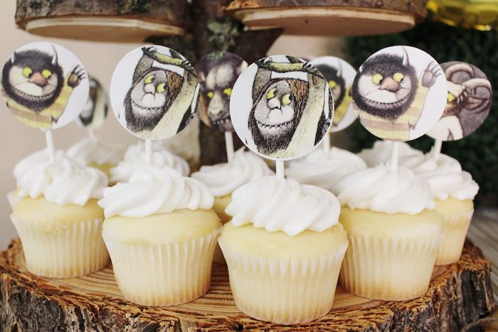 Cupcakes from a Where the Wild Things Are Birthday Party via Kara's Party Ideas | KarasPartyIdeas.com (23)