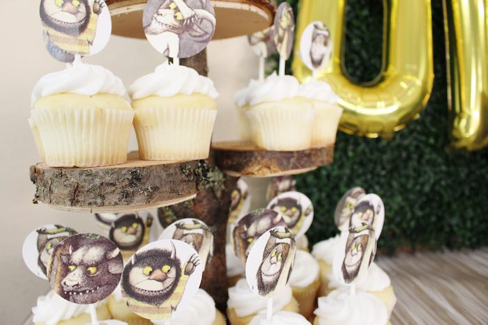 Cupcakes from a Where the Wild Things Are Birthday Party via Kara's Party Ideas | KarasPartyIdeas.com (22)