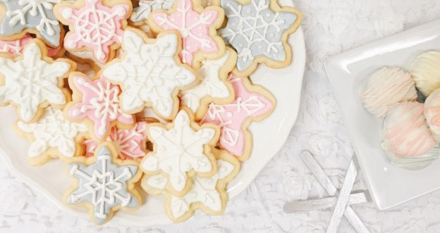 Cookies + Decor from a Winter ONEderland Birthday Party via Kara's Party Ideas KarasPartyIdeas.com (1)