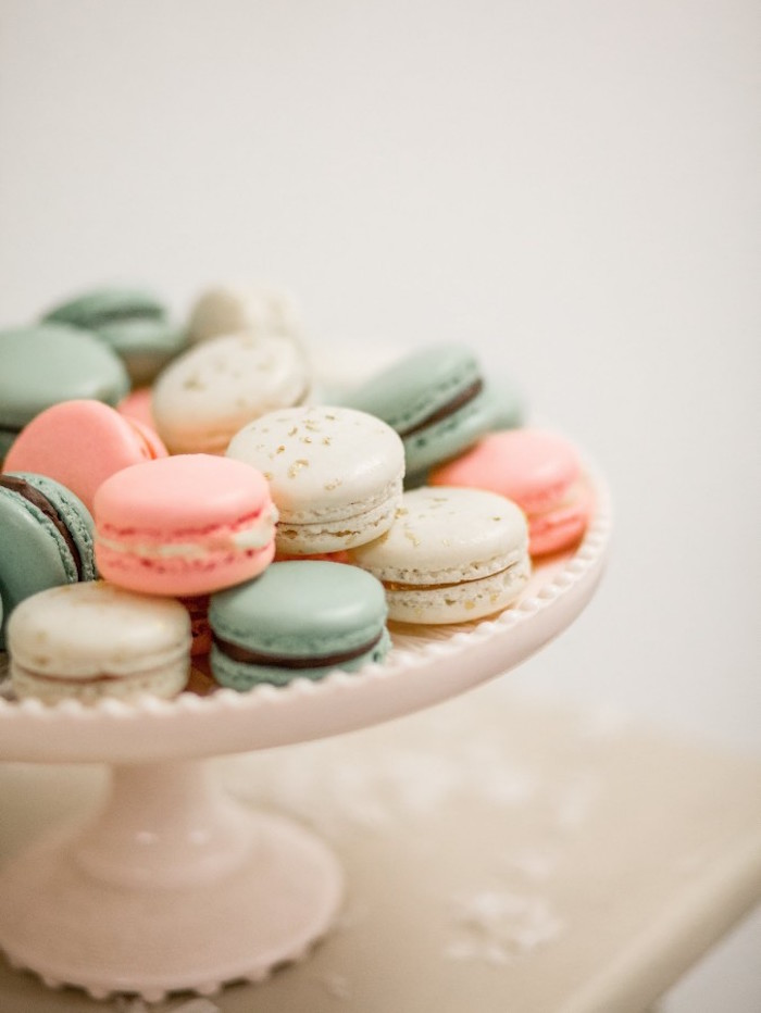 Macarons from a Winter Wonderland Birthday Party via Kara's Party Ideas KarasPartyIdeas.com (24)