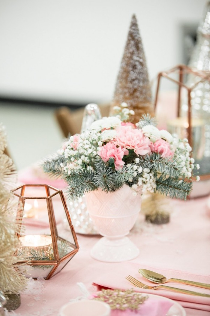 Dining Tablescape from a Winter Wonderland Birthday Party via Kara's Party Ideas KarasPartyIdeas.com (20)