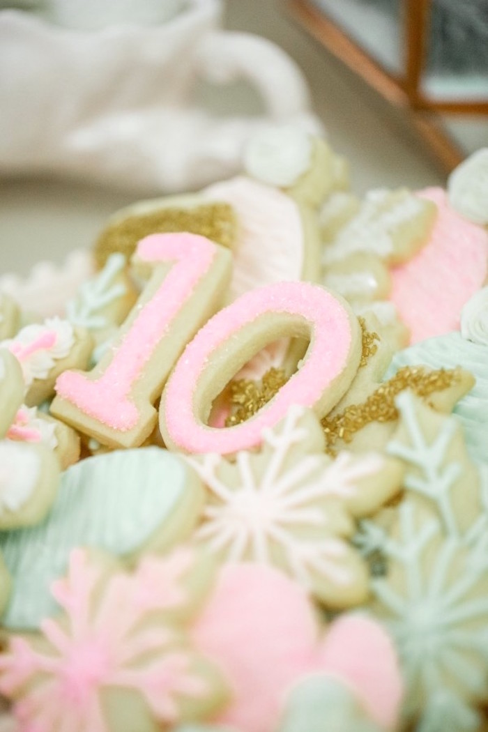 Sugar Cookies from a Winter Wonderland Birthday Party via Kara's Party Ideas KarasPartyIdeas.com (37)