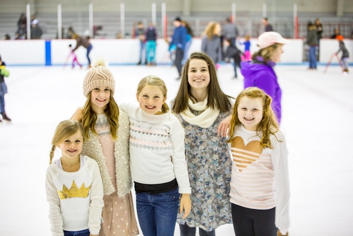 Ice Skating at a Winter Wonderland Birthday Party via Kara's Party Ideas KarasPartyIdeas.com (17)