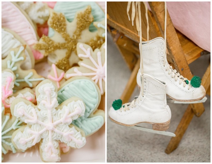 Winter Cookies + Ice Skates from a Winter Wonderland Birthday Party via Kara's Party Ideas KarasPartyIdeas.com (12)
